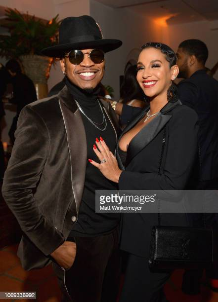 NeYo and Crystal Renay attend the 2018 GQ Men of the Year Party at a private residence on December 6 2018 in Beverly Hills California