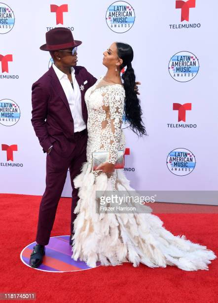 NeYo and Crystal Renay attend the 2019 Latin American Music Awards at Dolby Theatre on October 17 2019 in Hollywood California