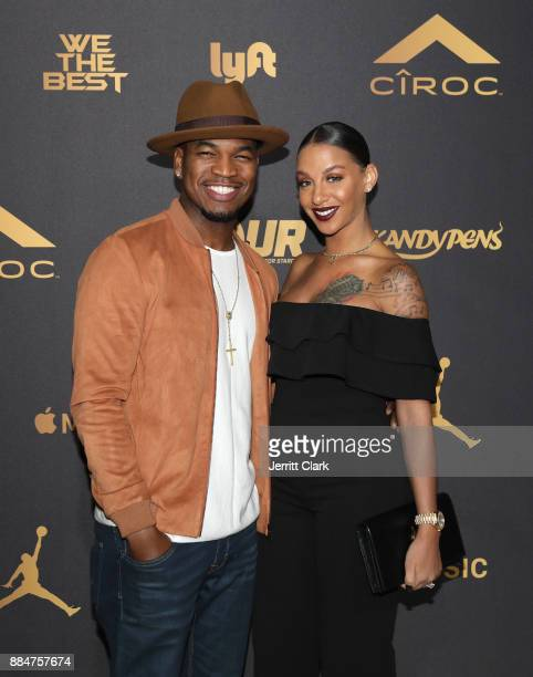 NeYo and Crystal Renay attend The Four cast Sean Diddy Combs Fergie and Meghan Trainor Host DJ Khaled's Birthday Presented by CÎROC and Fox on...