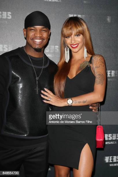 NeYo and Crystal Renay attend the VERSUS show during London Fashion Week September 2017 on September 17 2017 in London England