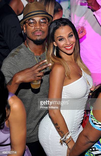 Neyo and Crystal Renay attends Shawn 'Pecas' Costners birthday celebration at Prive on September 19 2014 in Atlanta Georgia