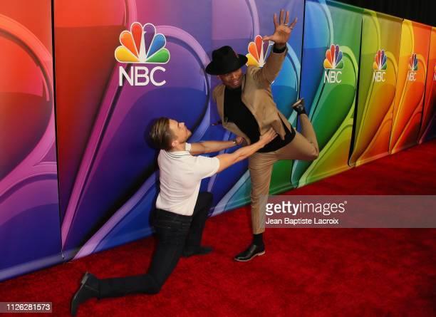 NeYo and Derek Hough attend NBC's Los Angeles MidSeason Press Junket on February 20 2019 in Los Angeles California