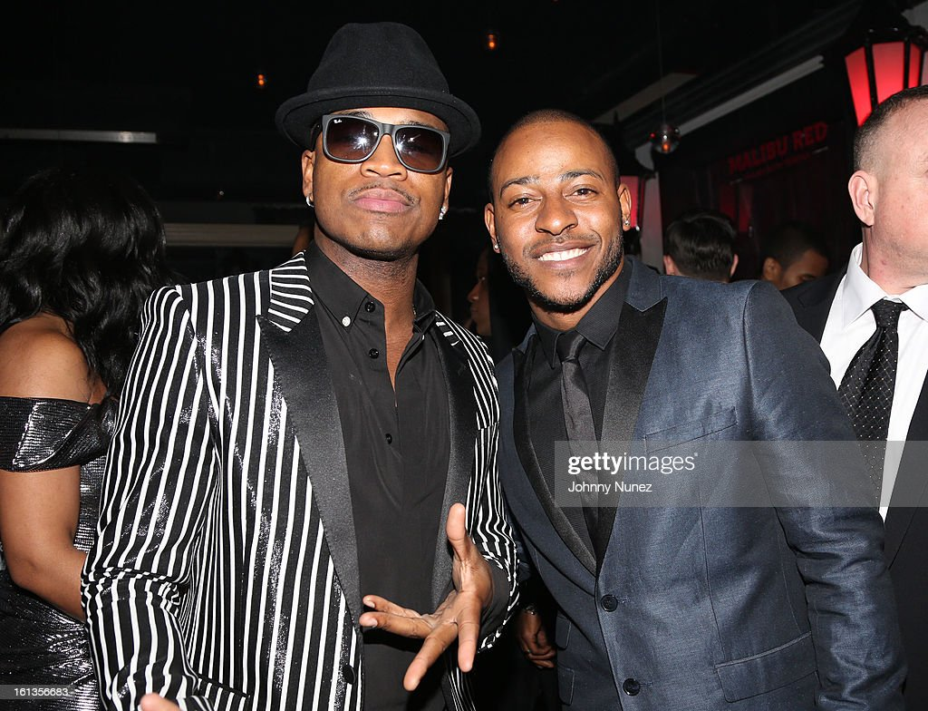 Ne-Yo and Eric Bellinger attend Compound Entertainment And Malibu Red GRAMMY Midnight Brunch 2013 at Bagatelle/STK on February 9, 2013 in West Hollywood, California.