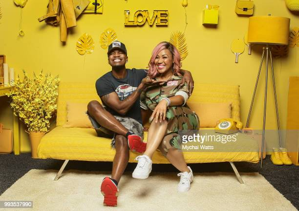 Ne-Yo and Erica Campbell at the 2018 Essence Music Festival Getty Images Portrait Studio on July 6, 2018 in New Orleans, Louisiana.