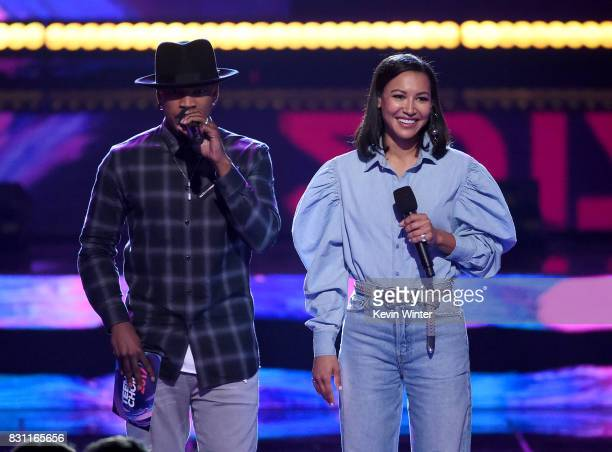 NeYo and Naya Rivera speak onstage during the Teen Choice Awards 2017 at Galen Center on August 13 2017 in Los Angeles California