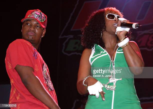 NeYo and Remy Ma during Hot 937 presents Summer Jam 2006 at Hartford Civic Center in Hartford Connecticut United States