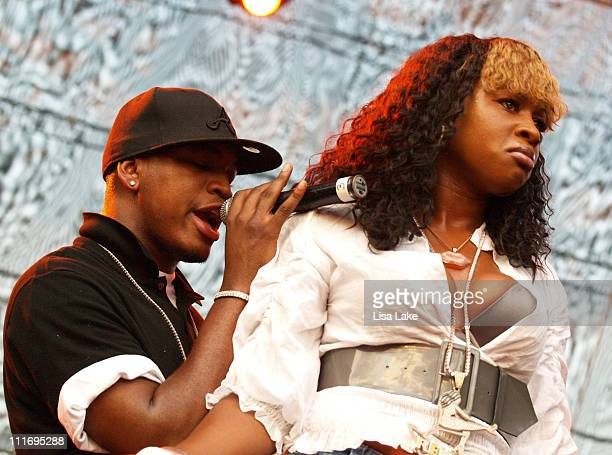 NeYo and Remy Ma during Musikfest 2006 August 6 2006 at Riverplace Stage in Bethlehem pennsylvania United States