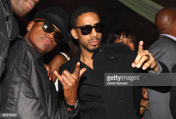 """Ne-Yo and Ryan Leslie attend the 30th Birthday Bash """"Cold as Ice"""" at Cipriani 42nd Street on October 17, 2009 in New York City."""