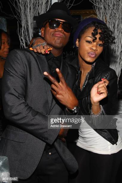 """Ne-Yo and Teyana Taylor attend the 30th Birthday Bash """"Cold as Ice"""" at Cipriani 42nd Street on October 17, 2009 in New York City."""