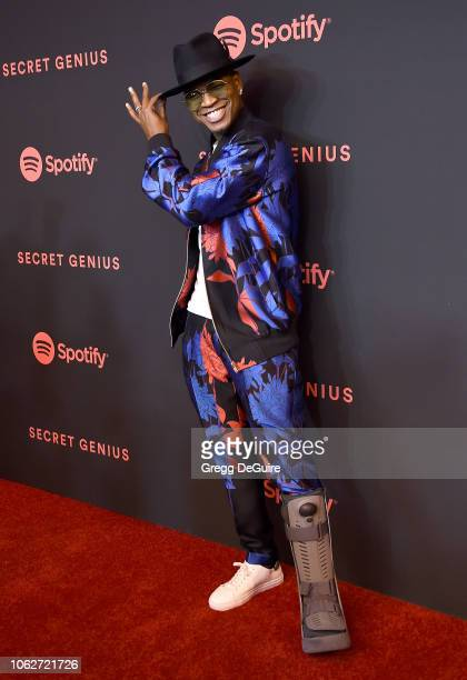 NeYo arrives at Spotify's 2nd Annual Secret Genius Awards at The Theatre at Ace Hotel on November 16 2018 in Los Angeles California