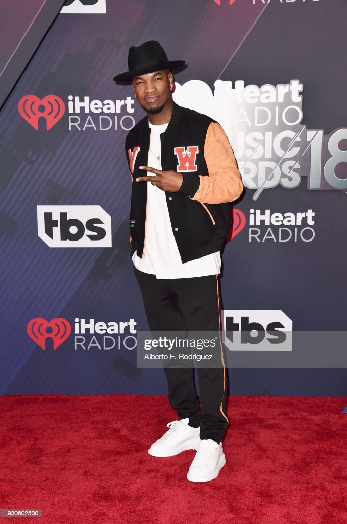 Ne-Yo arrives at the 2018 iHeartRadio Music Awards which broadcasted live on TBS, TNT, and truTV at The Forum on March 11, 2018 in Inglewood, California.