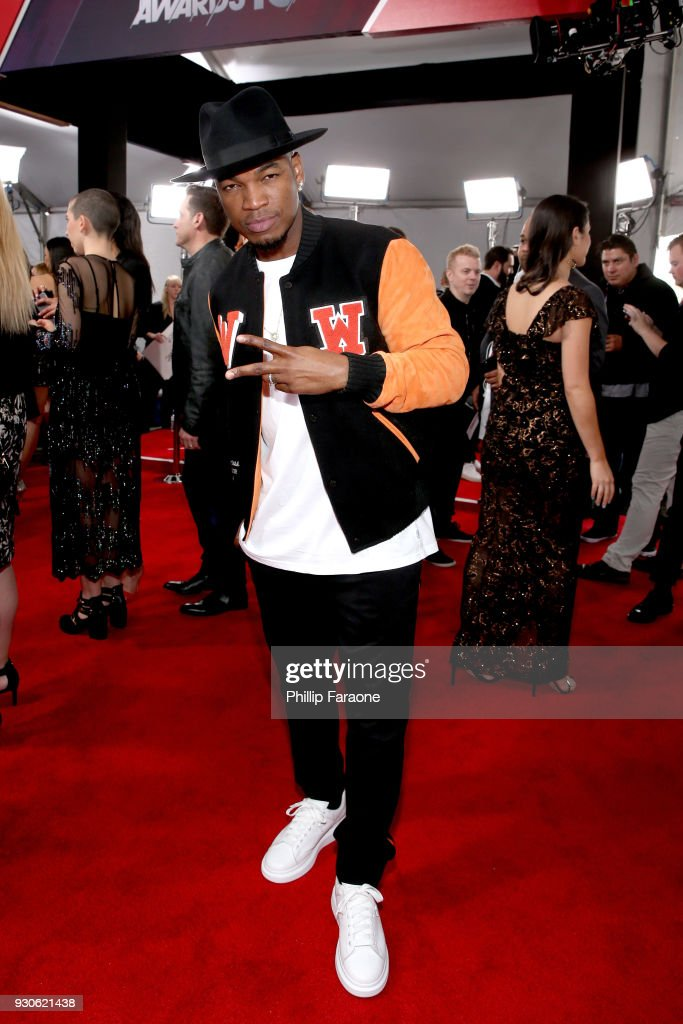 Ne-Yo attends the 2018 iHeartRadio Music Awards which broadcasted live on TBS, TNT, and truTV at The Forum on March 11, 2018 in Inglewood, California.