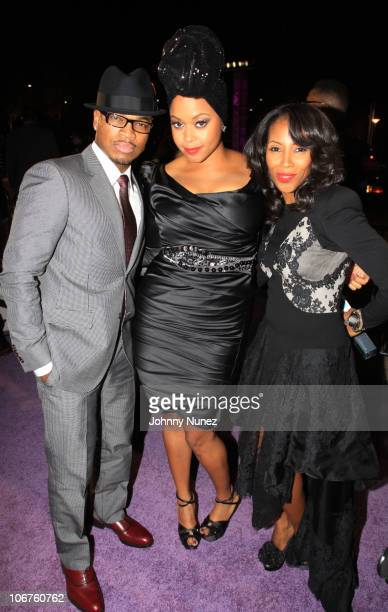 NeYo Chrisette Michele and June Ambrose attend the 2010 Soul Train Awards at the Cobb Energy Center on November 10 2010 in Atlanta Georgia