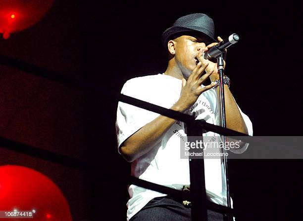 NeYo during CocaCola's Coke Side Of Life Launch Party with a Performance by NeYo March 30 2006 at Capitale in New York City New York United States