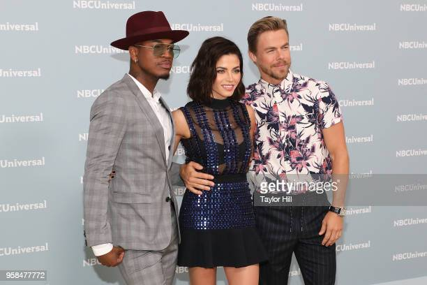 NeYo Jenna Dewan and Derek Hough attend the 2018 NBCUniversal Upfront Presentation at Rockefeller Center on May 14 2018 in New York City