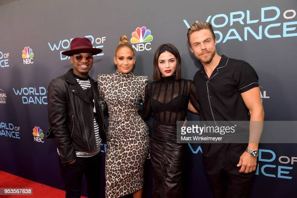 NeYo Jenna Dewan Jennifer Lopez and Derek Hough attend the FYC event for NBC's World of Dance at Saban Media Center on May 1 2018 in North Hollywood...