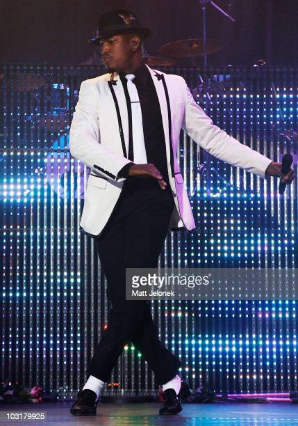 Ne-Yo performs on stage during the Winterbeatz music festival at Burswood Entertainment Complex on July 31, 2010 in Perth, Australia.