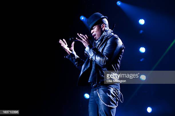 Ne-Yo performs onstage during his March 2013 UK tour at LG Arena on March 14, 2013 in Birmingham, England.
