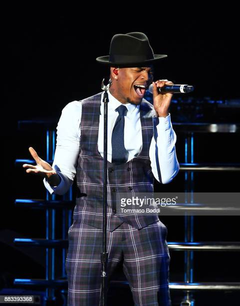 NeYo performs onstage during the AHF World AIDS DAY Concert and 30th Anniversary Celebration featuring Mariah Carey and DJ Khaled at the Shrine...