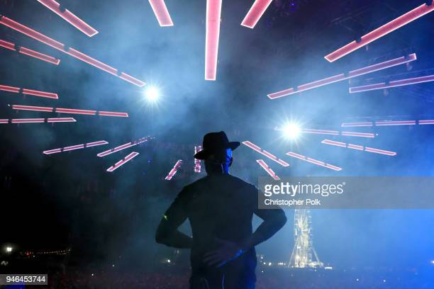 NeYo performs onstage wih blackbear during 2018 Coachella Valley Music And Arts Festival Weekend 1 at the Empire Polo Field on April 14 2018 in Indio...