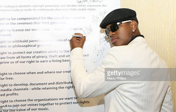 Neyo signs the Bill of Rights for Songwriters and Composers during the 2008 ASCAP Rhythm and Soul Awards at the Beverly Hilton Hotel in Los Angeles...