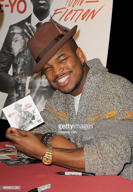 NeYo visits Century 21 Department Store on March 10 2015 in New York City