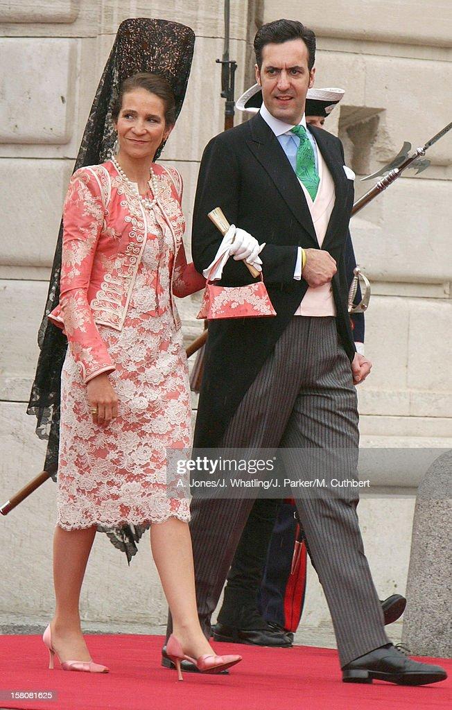 Nfanta Elena Of Spain & Husband Jaime De Marichalar Attend The Wedding Of Crown Prince Felipe & Letizia Ortiz Rocasolano In Madrid. .