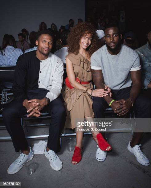 Nfl Player Brice Butler Tiffany Luce and Kam Chancellor attend the Lanvin Menswear Spring/Summer 2019 show as part of Paris Fashion Week on June 24...