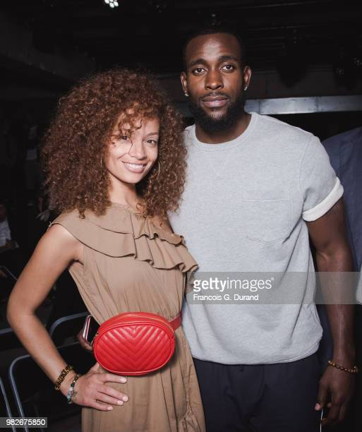Nfl Player Kam Chancellor and his wife Tiffany Luce attend the Lanvin Menswear Spring/Summer 2019 show as part of Paris Fashion Week on June 24 2018...