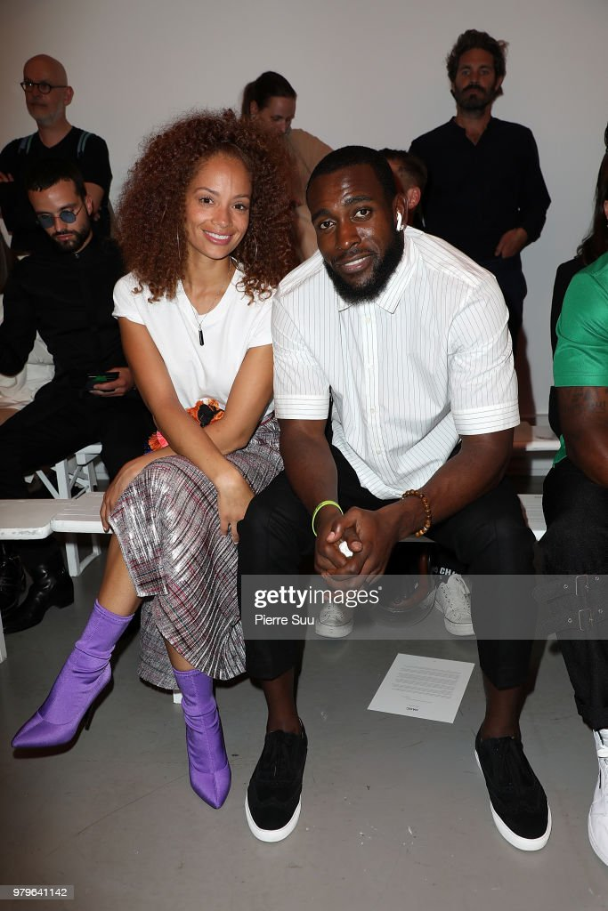 Nfl Player Kam Chancellor and his wife Tiffany Luce attend the OAMC Menswear Spring/Summer 2019 show as part of Paris Fashion Week on June 20, 2018 in Paris, France.