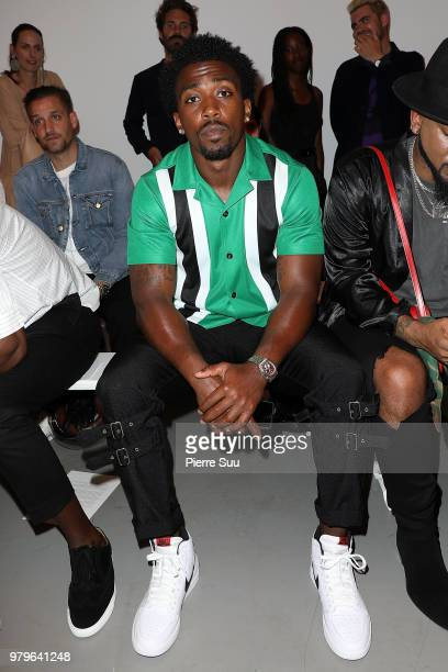 Nfl player Tyrod Taylor attends the OAMC Menswear Spring/Summer 2019 show as part of Paris Fashion Week on June 20, 2018 in Paris, France.