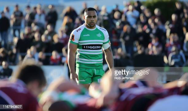 Ngani Laumape of Manawatu during the round 6 Mitre 10 Cup match between Southland and Manawatu at Rugby Park on September 14, 2019 in Invercargill,...