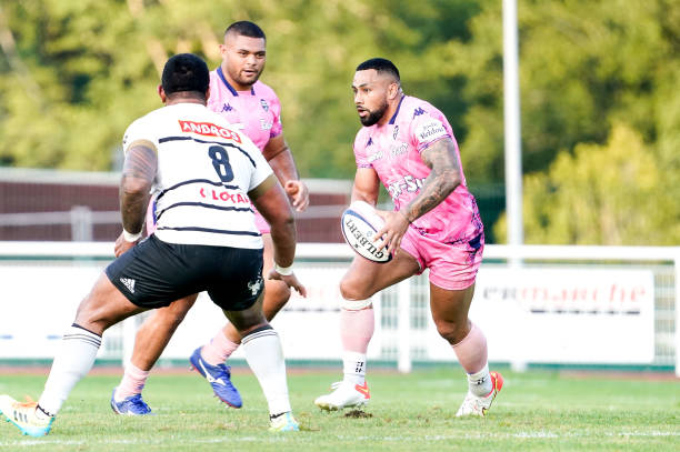 Ngani LAUMAPE of Paris during the Friendly match between Brive and Stade Francais on August 13, 2021 in Tulle, France. (Photo by Hugo Pfeiffer/Icon Sport via Getty Images)