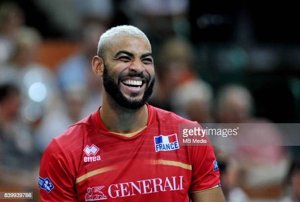 Ngapeth Earvin of France during the European Men's Volleyball Championships 2017 match between Netherlands and France on August 27 2017 in Katowice...