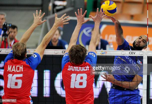 Ngapeth Earvin of France during the European Men's Volleyball Championships 2017 match between France and Czech Republic on August 30 2017 in...