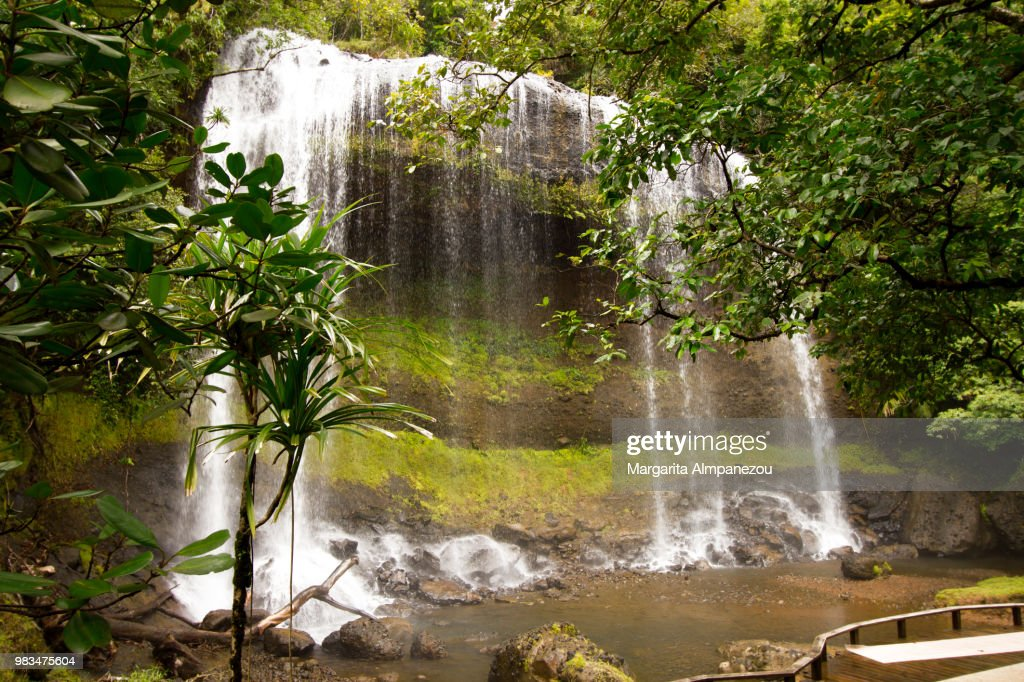 Ngardmau Waterfall At The Tropical Island Of Palau In The