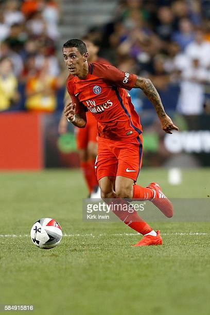 Ángel Di María of Paris SaintGermain FC controls the ball during the game against Real Madrid CF on July 27 2016 at Ohio Stadium in Columbus Ohio...