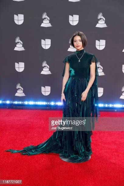 Ángela Aguilar attends the 20th annual Latin GRAMMY Awards at MGM Grand Garden Arena on November 14 2019 in Las Vegas Nevada