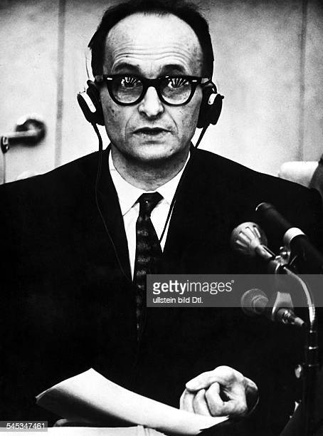 ADOLF EICHMANN /nGerman Nazi leader and SS officer Photographed during his trial for crimes against humanity at Jerusalem 1961