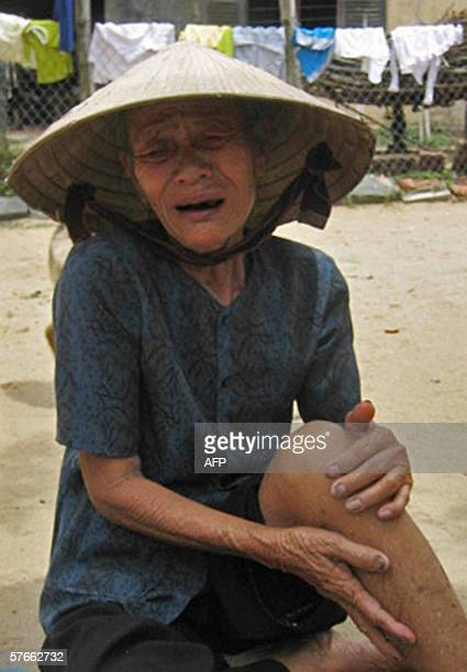 Vo Thi Lai reacts to news her two sons are among fishermen killed by Typhoon Chanchu, Nghia An, a commune of the Quang Ngai Vietnamese province,...