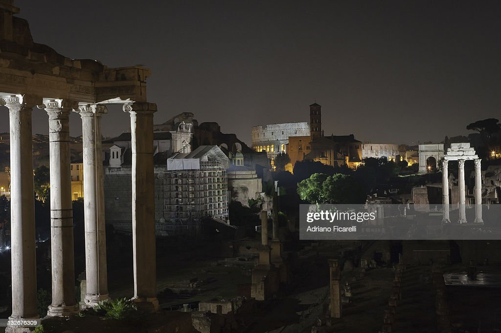 Nght in Rome : Foto stock