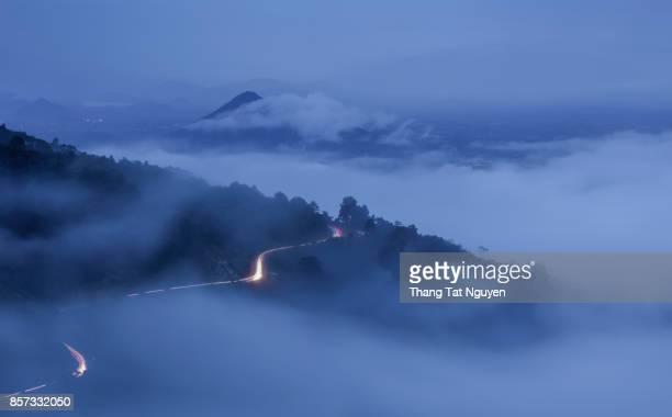 Ngoan Muc pass in cloud, Ninh Thuan, Vietnam