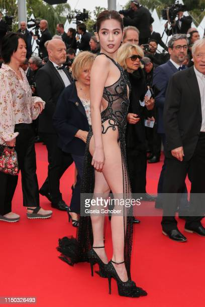 Ngoc Trinh attends the screening of A Hidden Life during the 72nd annual Cannes Film Festival on May 19 2019 in Cannes France