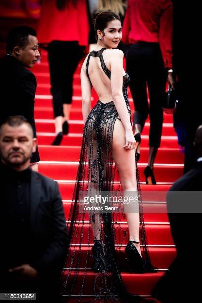 """Ngoc Trinh attends the screening of A Hidden Life """" during the 72nd annual Cannes Film Festival on May 19 2019 in Cannes France"""