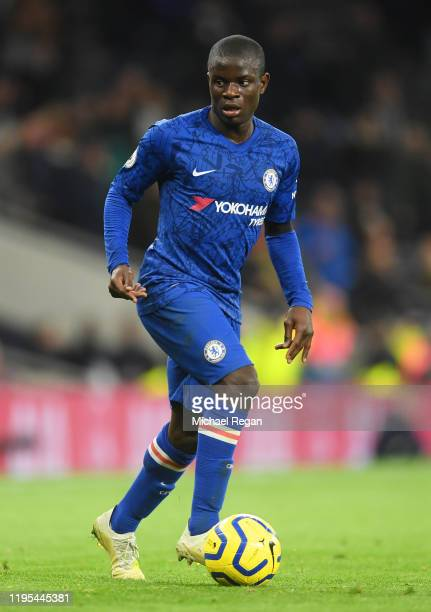 Ngolo Kante in actionmduring the Premier League match between Tottenham Hotspur and Chelsea FC at Tottenham Hotspur Stadium on December 22 2019 in...