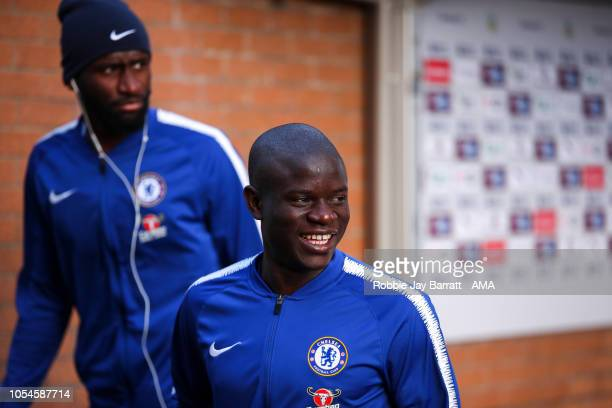 Ngolo Kante of Chelsea arrives prior to the Premier League match between Burnley FC and Chelsea FC at Turf Moor on October 28 2018 in Burnley United...