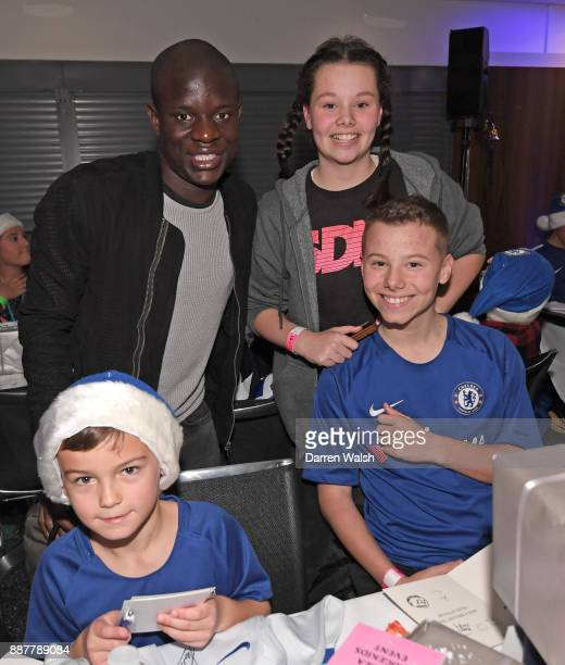 NÕgolo Kante of Chelsea at the Chelsea FC kids Christmas party December 7 2017 in London England