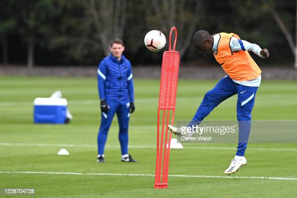 NGolo Kante of Chelsea during a training session at Chelsea Training Ground on September 25 2020 in Cobham England