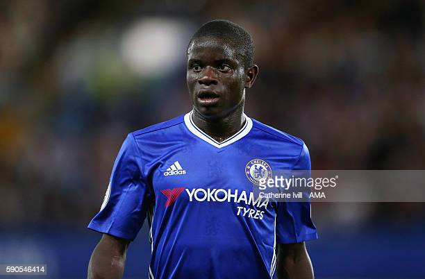 Ngolo Kante of Chelsea during the Premier League match between Chelsea and West Ham United at Stamford Bridge on August 15 2016 in London England