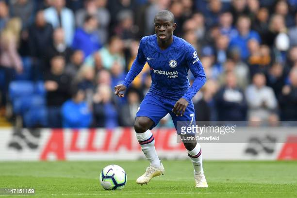 Ngolo Kante of Chelsea during the Premier League match between Chelsea FC and Watford FC at Stamford Bridge on May 05, 2019 in London, United Kingdom.